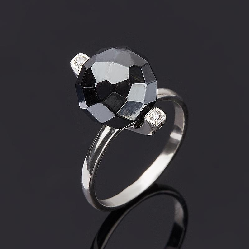 Кольцо гематит Бразилия огранка (серебро 925 пр.) размер 15,5