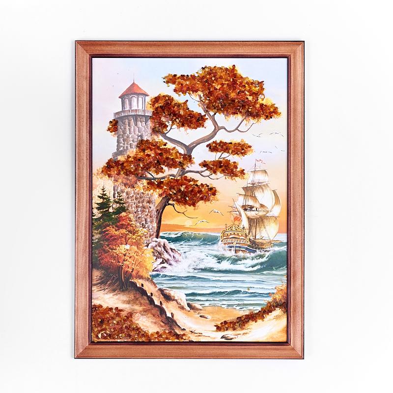 Картина Море янтарь 21х30 см