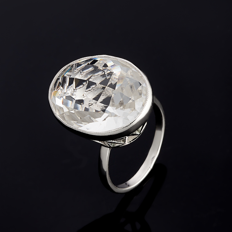 Кольцо горный хрусталь огранка (серебро 925 пр.) размер 17,5 жен стерлинговое серебро хрусталь стразы кольца для пар кольцо круглый бижутерия любовь свадьба серебряный кольцо назначение
