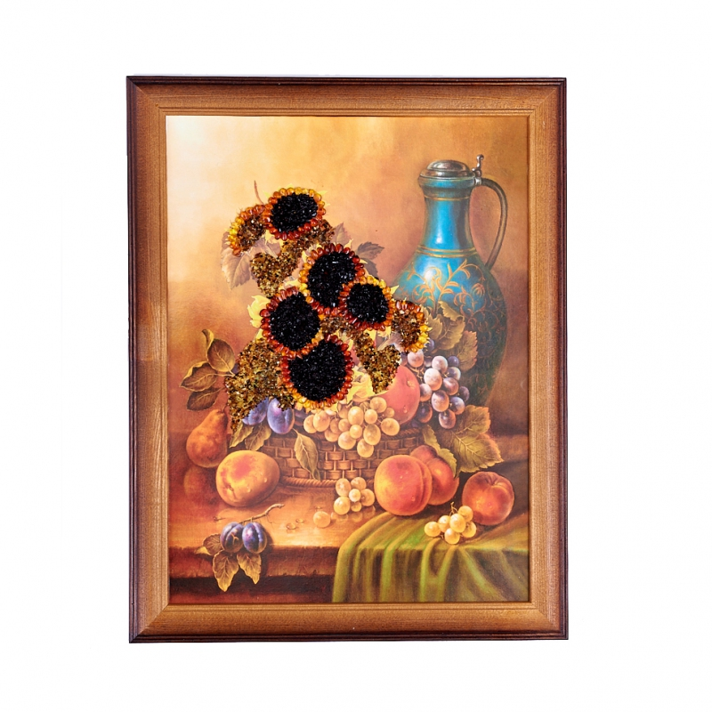 Картина Подсолнухи янтарь 30х40 см стоимость