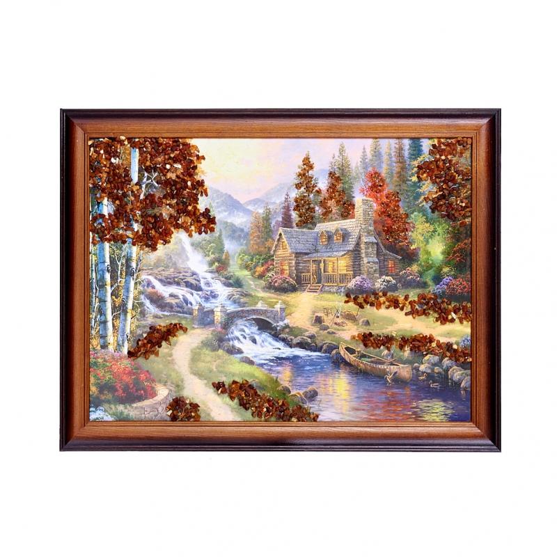 Картина Природа янтарь 30х40 см