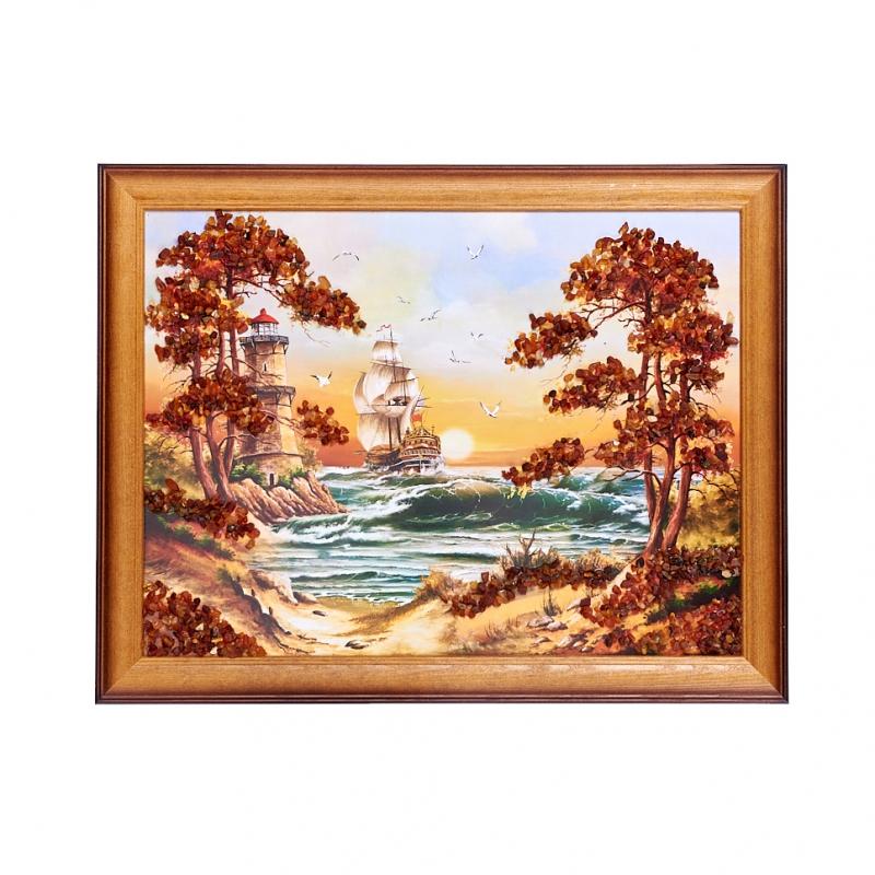 Картина Море янтарь 30х40 см стоимость
