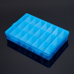 Коробка для коллекции камней (24 ячейки) (синий) (пластик)