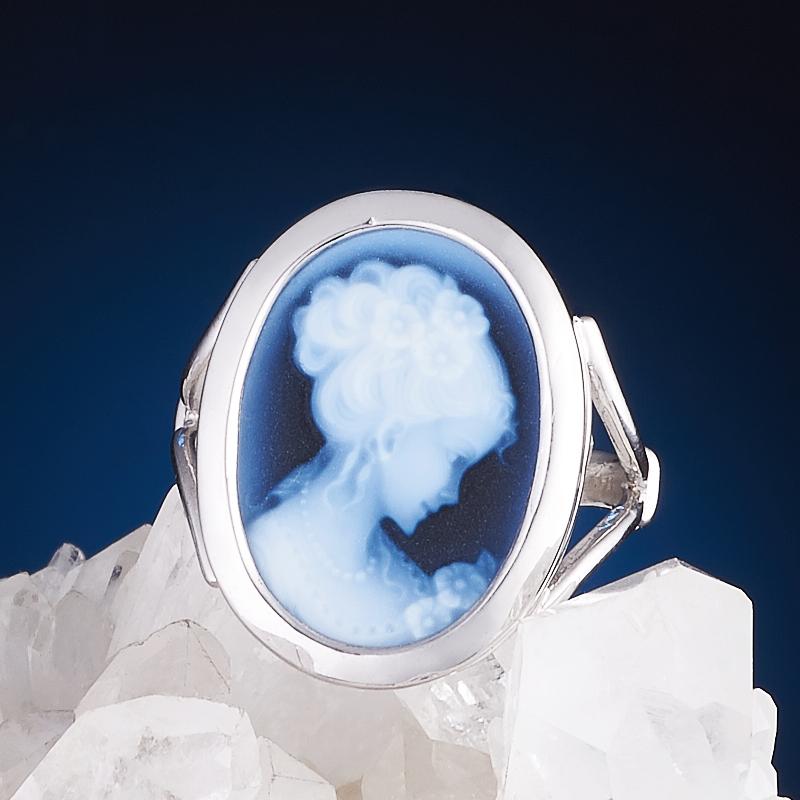 Кольцо Камея агат черный (серебро 925 пр.) размер 18 кольцо женское jenavi виконт решимость цвет серебро черный h4663060 размер 18
