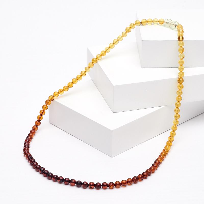 Бусы янтарь 5 мм 49 см бусы слива янтарь 11 08