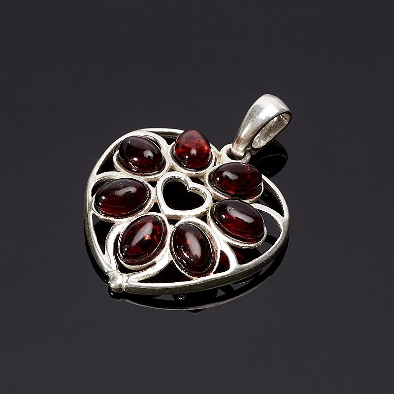 Кулон янтарь сердечко (латунь посеребр.) 3,5 см стоимость
