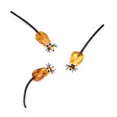 Денежный талисман янтарь Россия (мышь кошельковая) 3-4 см