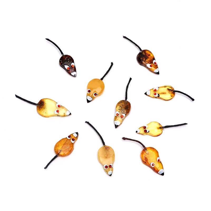 Мышка кошельковая янтарь 3,5-4,5 см сувенир мкт оберег для кошелька кошельковая мышка с грошем