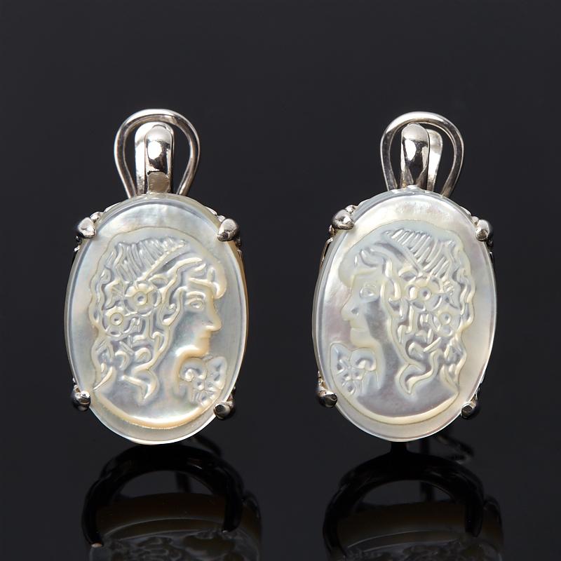 Серьги перламутр белый (серебро 925 пр.) серьги милана перламутр
