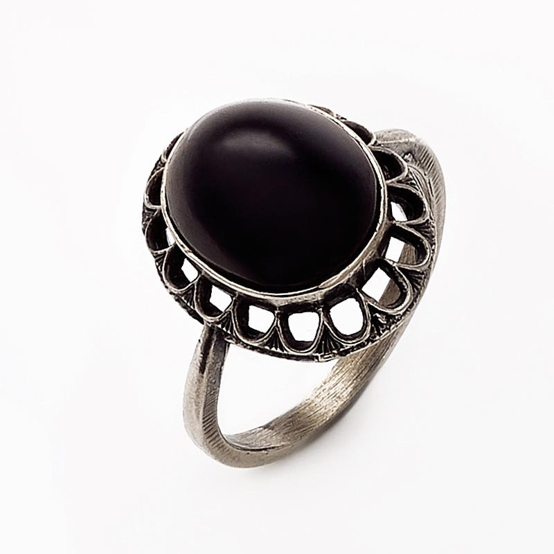 Кольцо гагат Грузия (мельхиор) размер 18