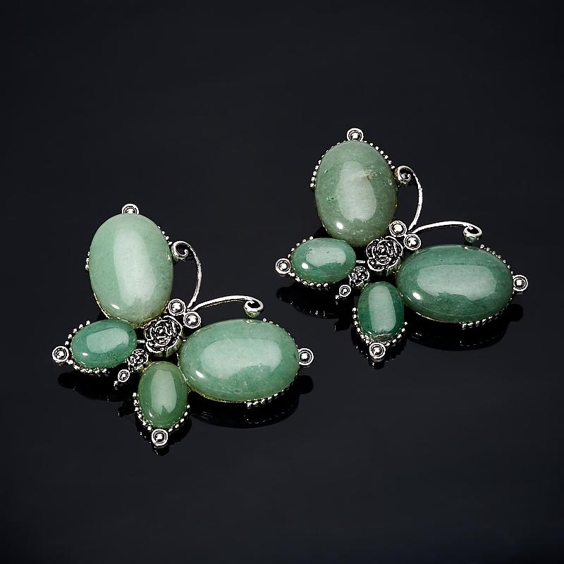 Фото - Брошь авантюрин зеленый (биж. сплав) брошь три птицы бижутерный сплав полихромные эмали австрийские кристаллы