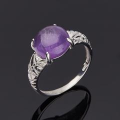 Кольцо аметист Бразилия (серебро 925 пр. родир. бел.) размер 17,5