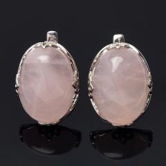 Серьги розовый кварц Бразилия (серебро 925 пр.)