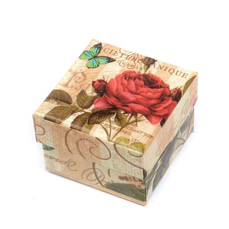 Подарочная упаковка под кольцо 50х50х35 мм подарочная упаковка классическая до 20см