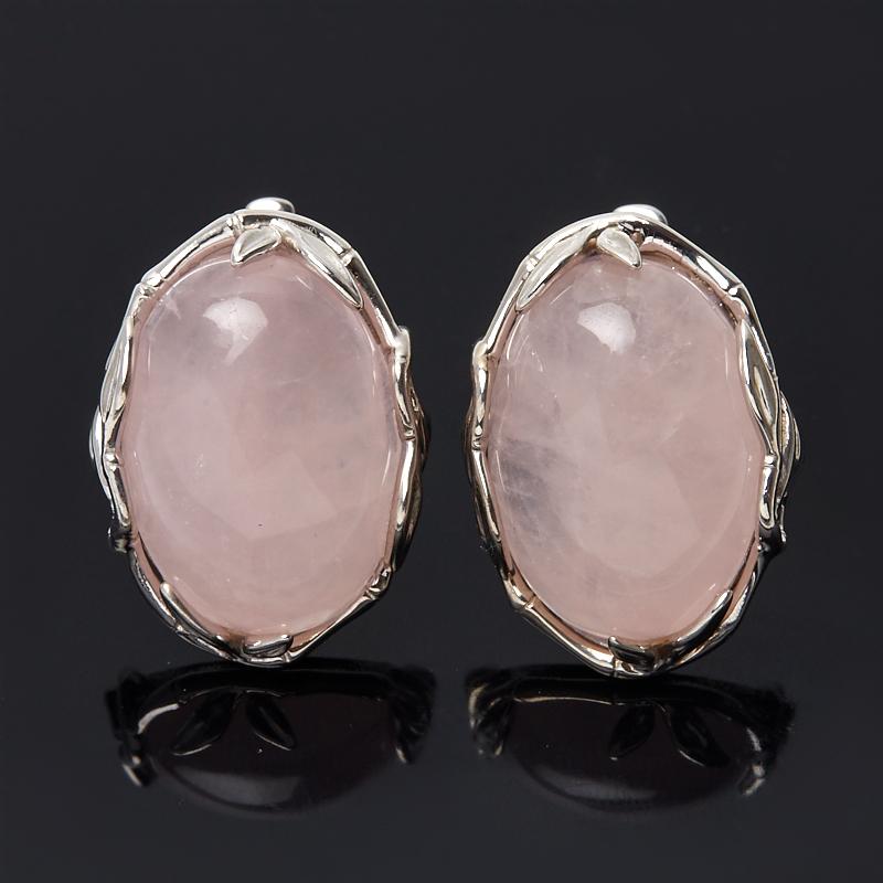 Серьги розовый кварц (серебро 925 пр.) серьги розовый кварц серебро 925 пр