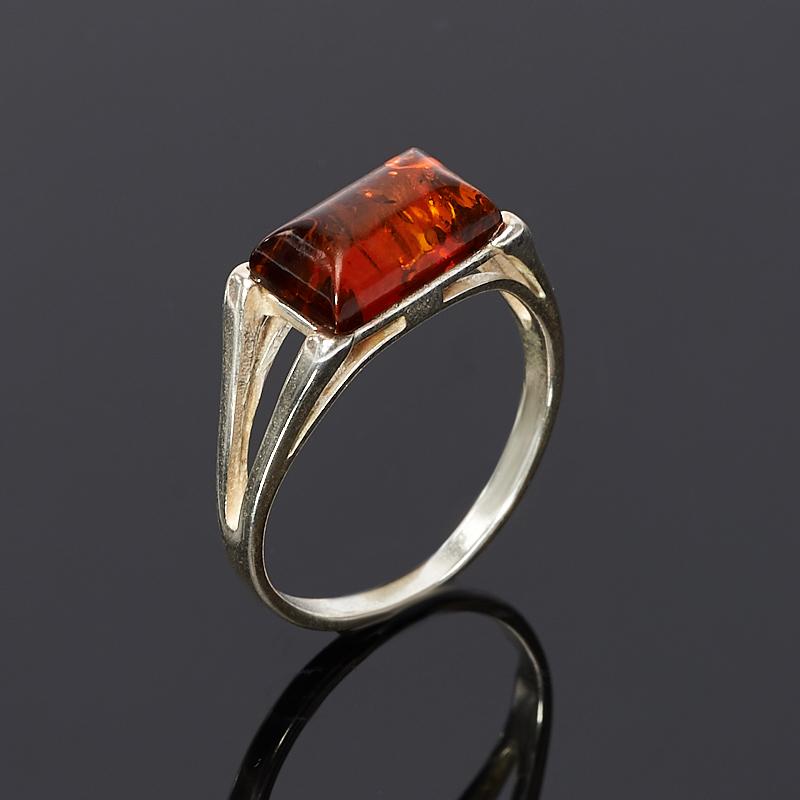 Кольцо янтарь размер 16,5