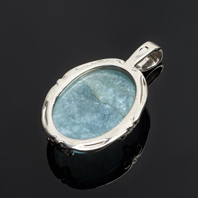 Кулон аквамарин Россия (серебро 925 пр.)