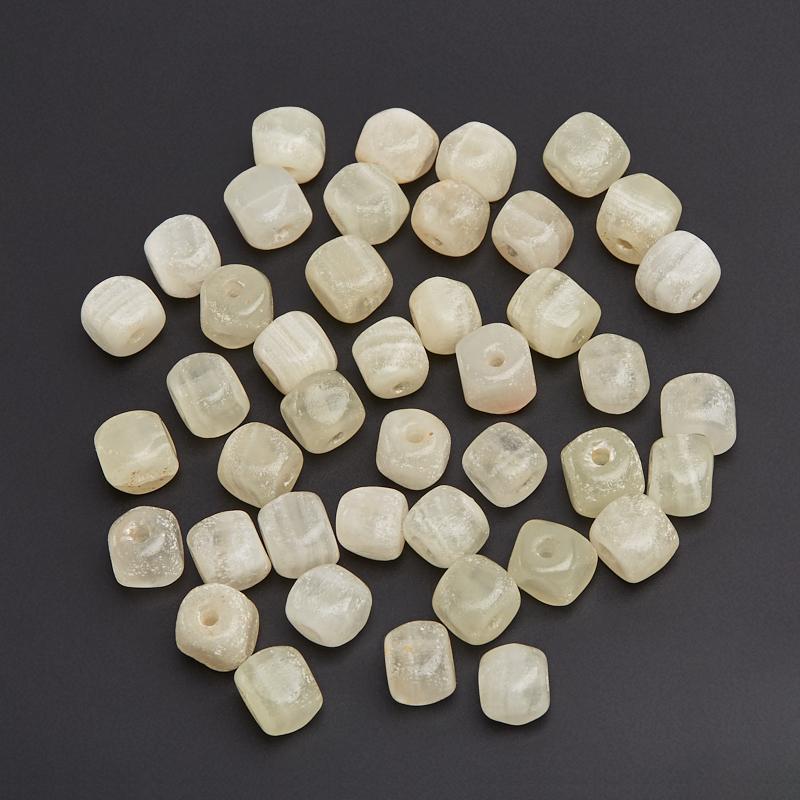Бусина оникс мраморный белый галтовка (1 шт) бусина оникс мраморный галтовка 1 шт