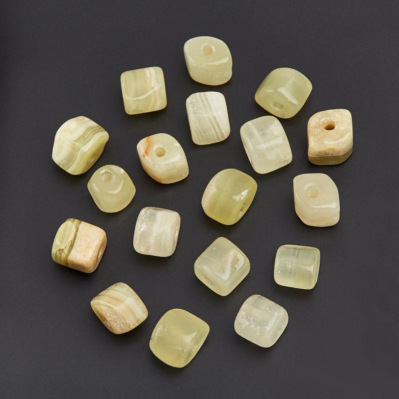 Бусина оникс мраморный зеленый галтовка (1 шт) бусина оникс мраморный галтовка 1 шт