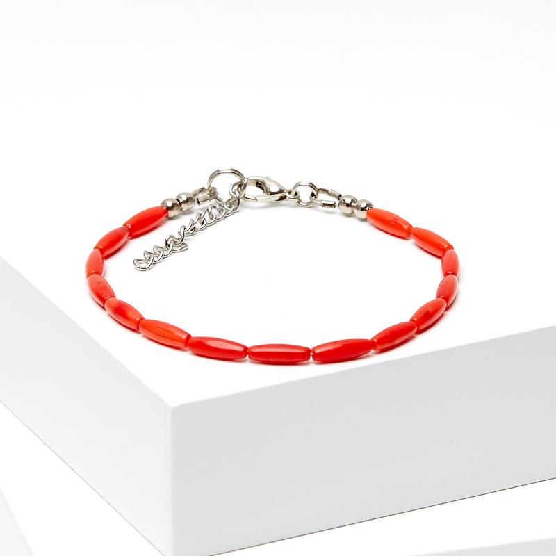 Браслет коралл красный 16-19 см (биж. сплав) браслет коралл оранжевый 6 мм 16 19 см биж сплав