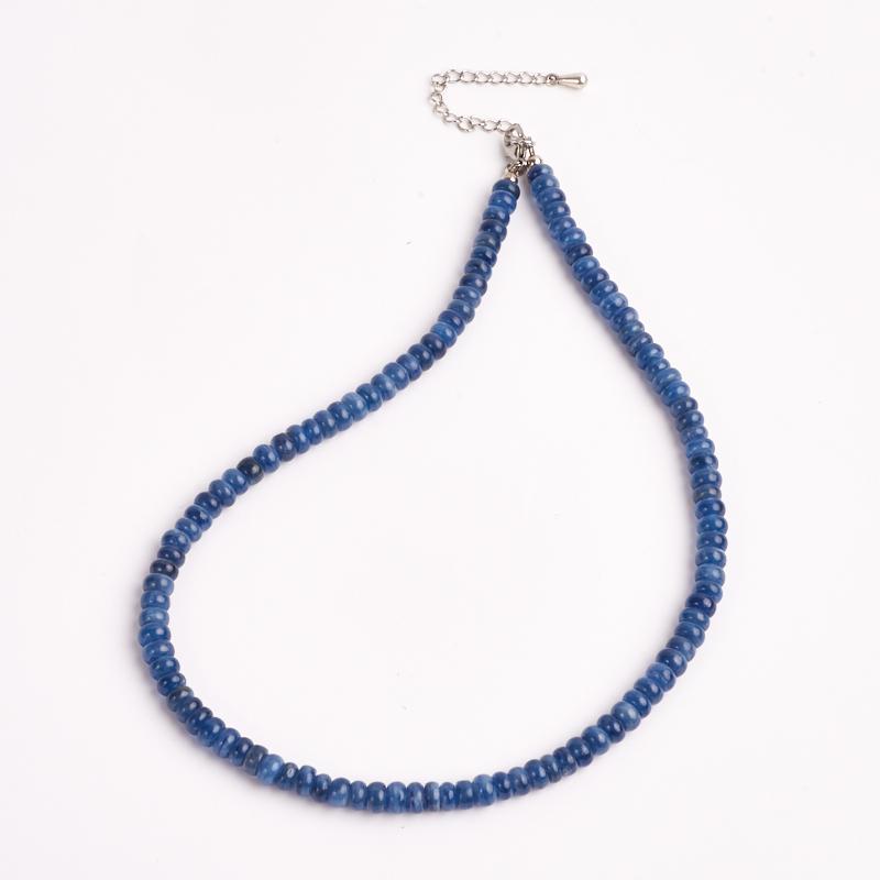 Бусы кианит синий 7 мм 42-48 см (хир. сталь) yoursfs синий 7