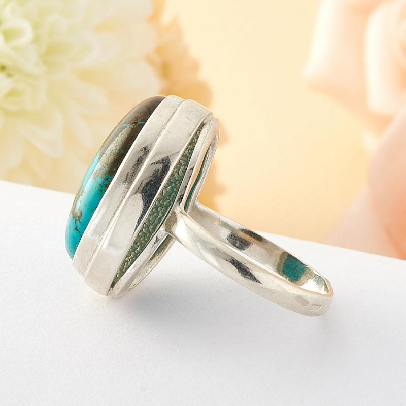 Кольцо бирюза Тибет (серебро) размер 16,5
