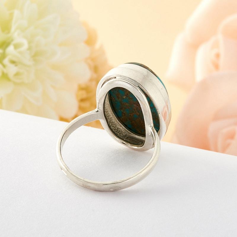 Кольцо бирюза Тибет (серебро) размер 17,5