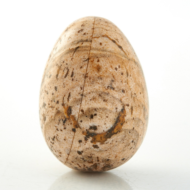 Яйцо яшма рисунчатая (песочная) 2,5 см