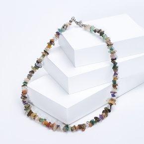 Бусы из разных видов камней 44-50 см (биж. сплав)