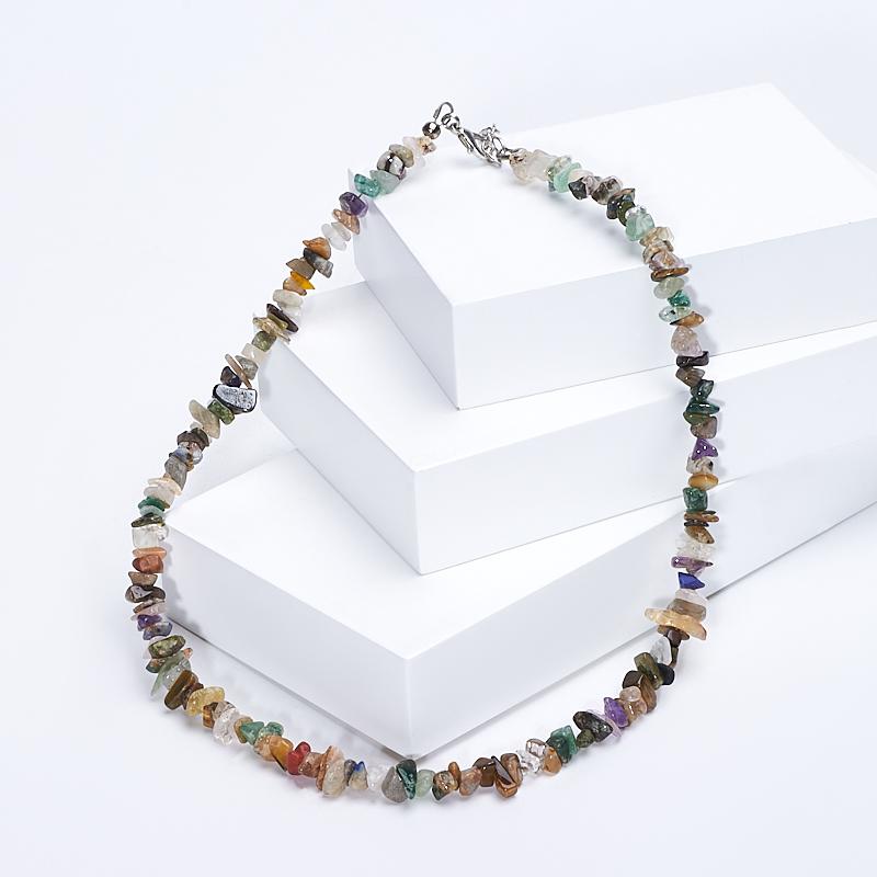 Бусы из разных видов камней 44-50 см (биж. сплав) бусы из агата миледи 2 наг 10 50 1
