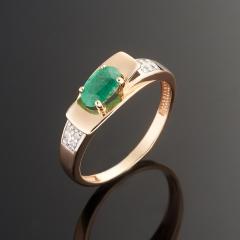Кольцо изумруд Колумбия огранка (золото 585 пр.) размер 16
