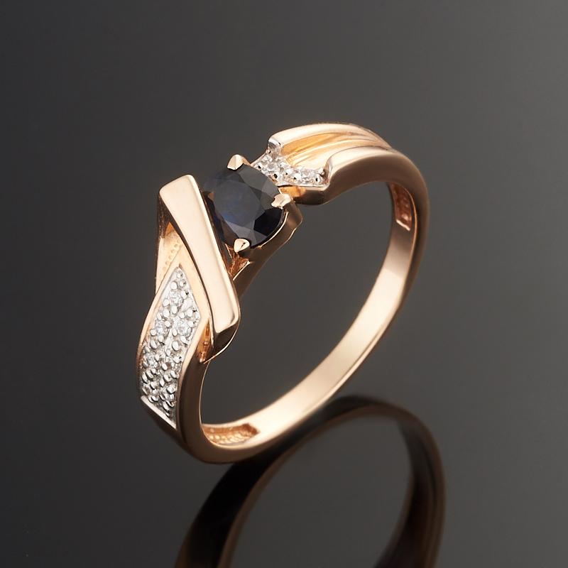 Кольцо сапфир огранка (золото 585 пр.) размер 17