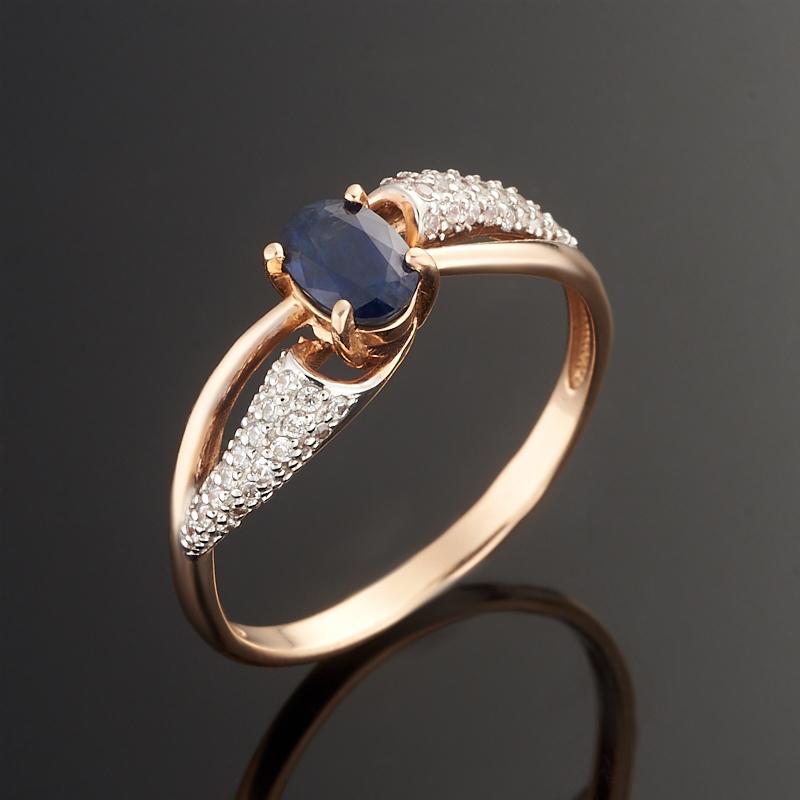 Кольцо сапфир огранка (золото 585 пр.) размер 18