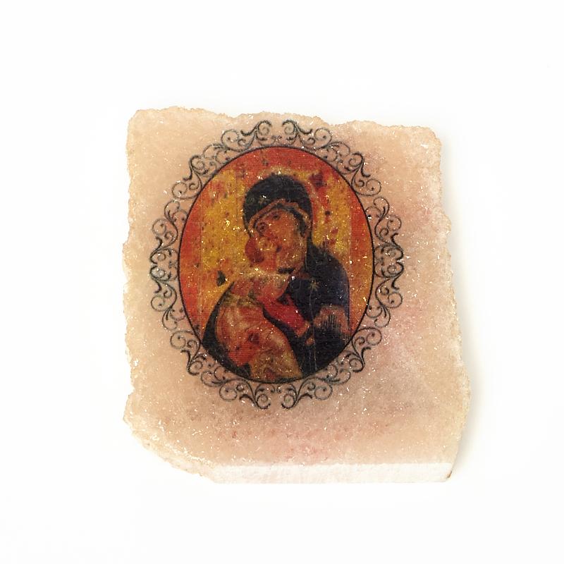 Фото - Изображение селенит Богоматерь Владимирская с молитвой 5,5 см изображение янтарь богоматерь владимирская 13х16 см