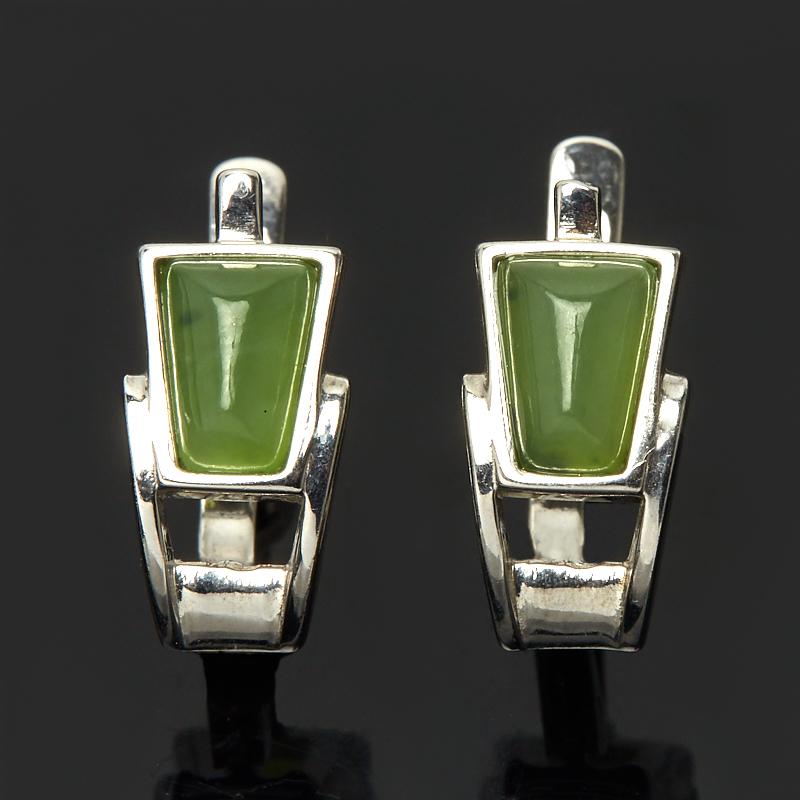 Серьги нефрит зеленый (серебро 925 пр.) термоконтейнер арктика 2000 30 л зеленый