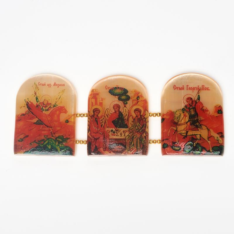 Изображение Триптих Святая Троица селенит 15х6 см