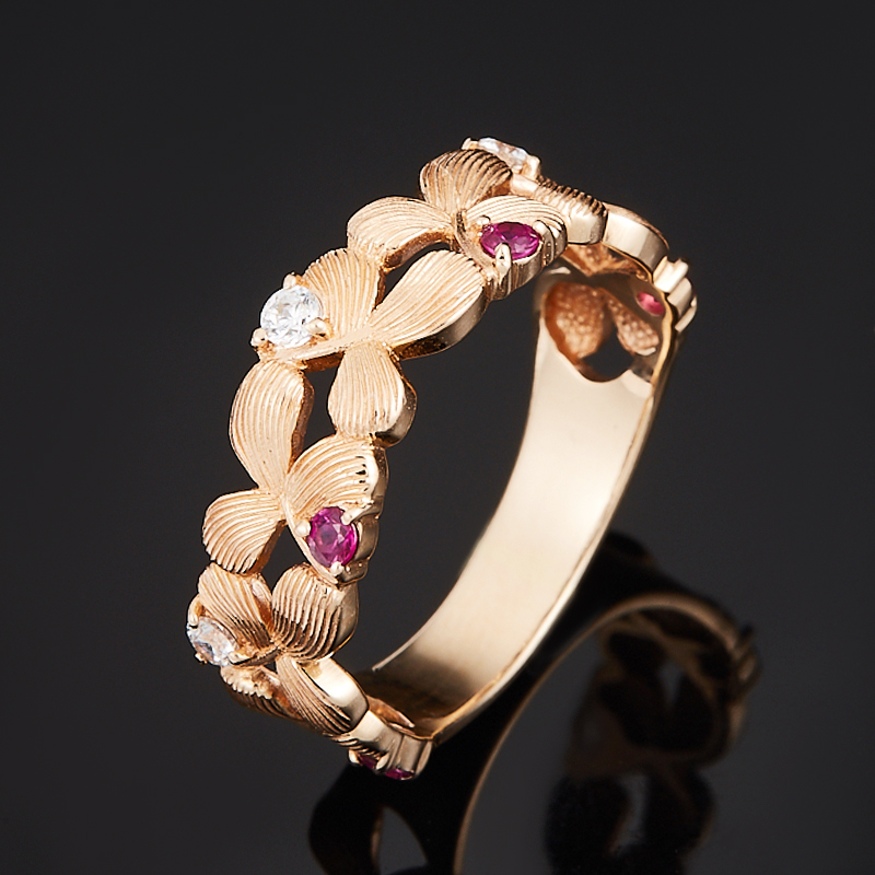 Кольцо рубин огранка (золото 585 пр.) размер 16,5
