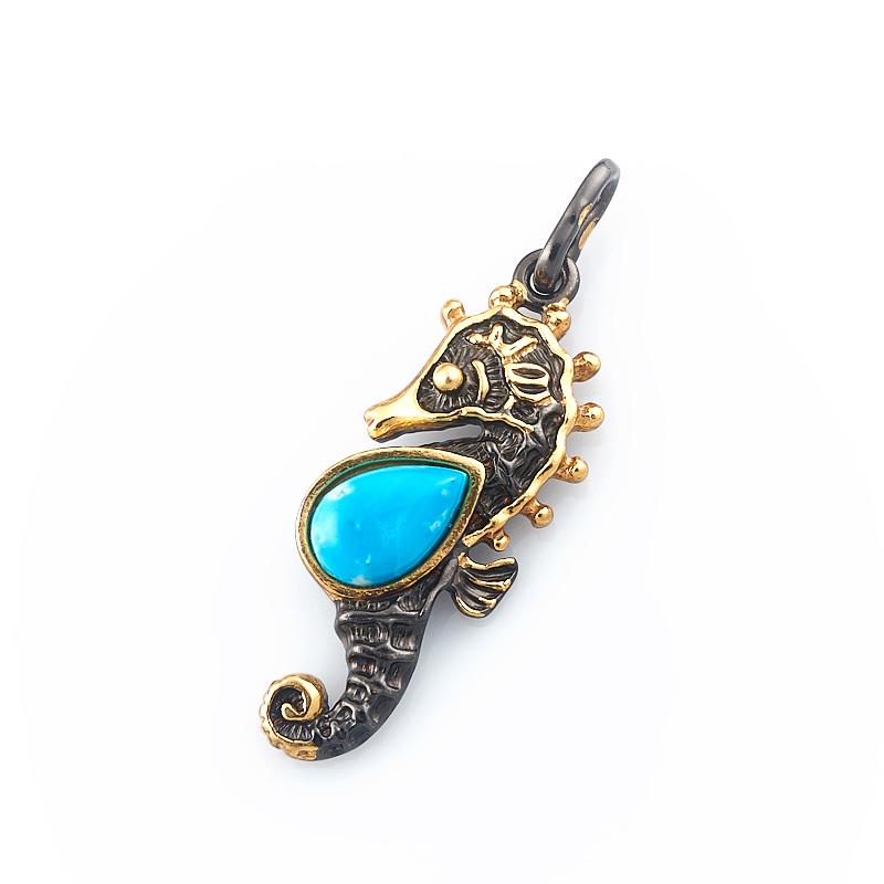 Кулон бирюза Тибет (серебро 925 пр., позолота) подвески бижутерные колечки кулон со шнурком кристалл прес бирюза пд кам1308