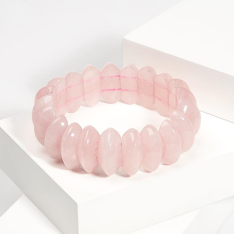 Браслет розовый кварц 20 см