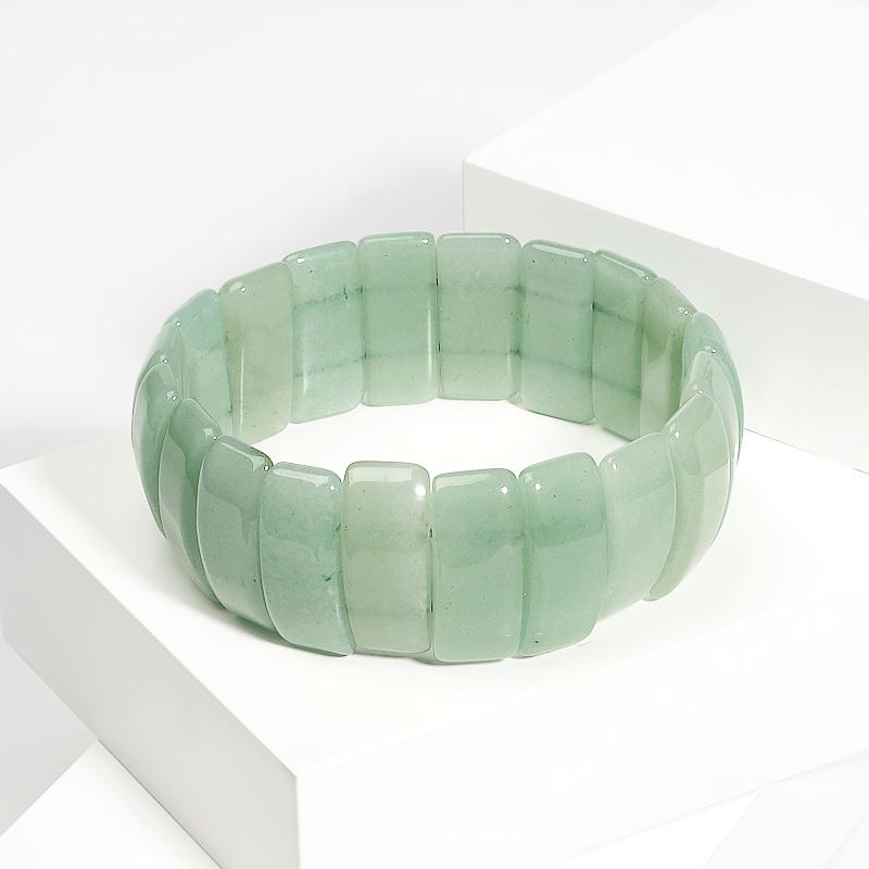 Браслет авантюрин зеленый 19 см браслеты револю браслет лилу авантюрин