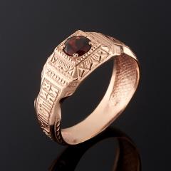 Кольцо гранат альмандин Индия огранка (серебро 925 пр., позолота) размер 19,5