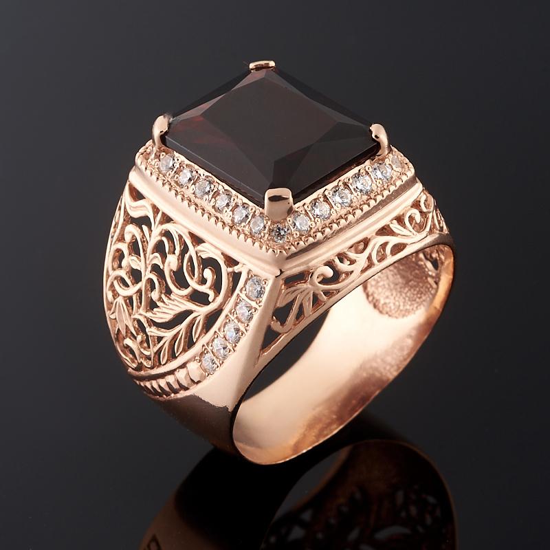 Кольцо гранат альмандин огранка (серебро 925 пр., позолота) размер 23