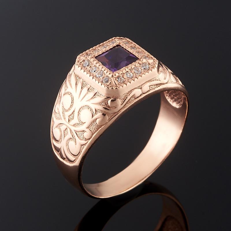 Кольцо аметист огранка (серебро 925 пр., позолота) размер 19,5 кольцо аметист огранка серебро 925 пр позолота размер 16 5