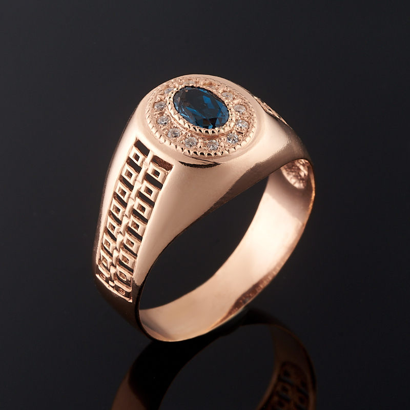 Кольцо топаз лондон огранка (серебро 925 пр., позолота) размер 20,5 кольцо коюз топаз кольцо т102017974 лл