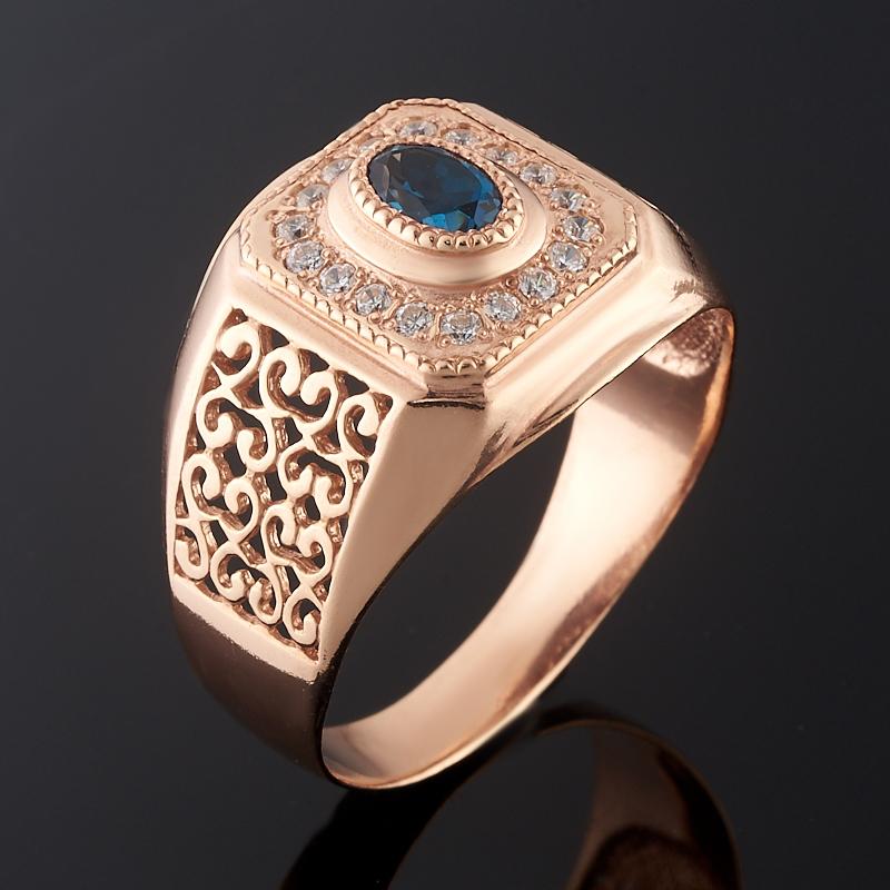 Кольцо топаз лондон огранка (серебро 925 пр., позолота) размер 21 кольцо микс топаз хризолит огранка серебро 925 пр размер 19