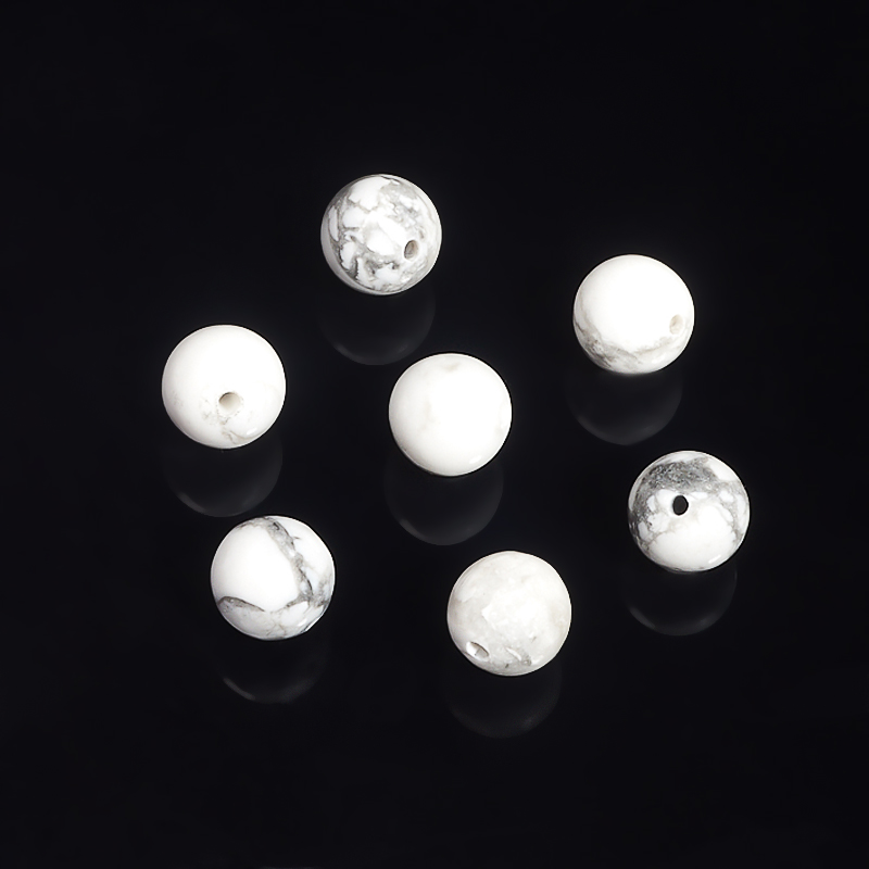 Бусина говлит шарик 8-8,5 мм (1 шт) матовое натуральный netstone нити круглый шарик 8 мм отверстие 1 мм около 24 шт нитка 7 5