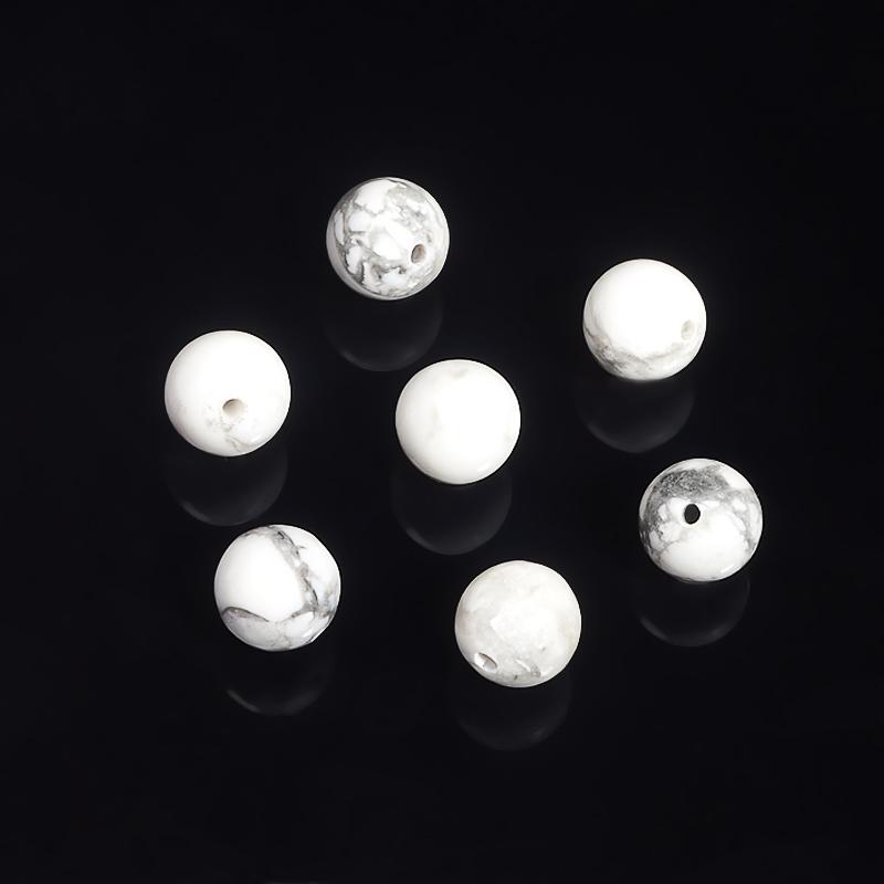 Бусина говлит шарик 8-8,5 мм (1 шт) бусина агат серый светлый шарик 8 8 5 мм 1 шт
