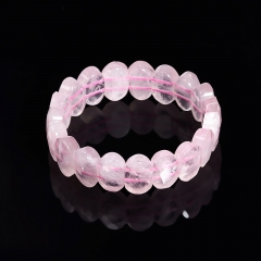 Браслет розовый кварц Бразилия огранка 18 см