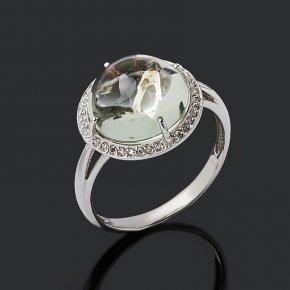 Кольцо празиолит Бразилия (серебро 925 пр.) размер 17,5
