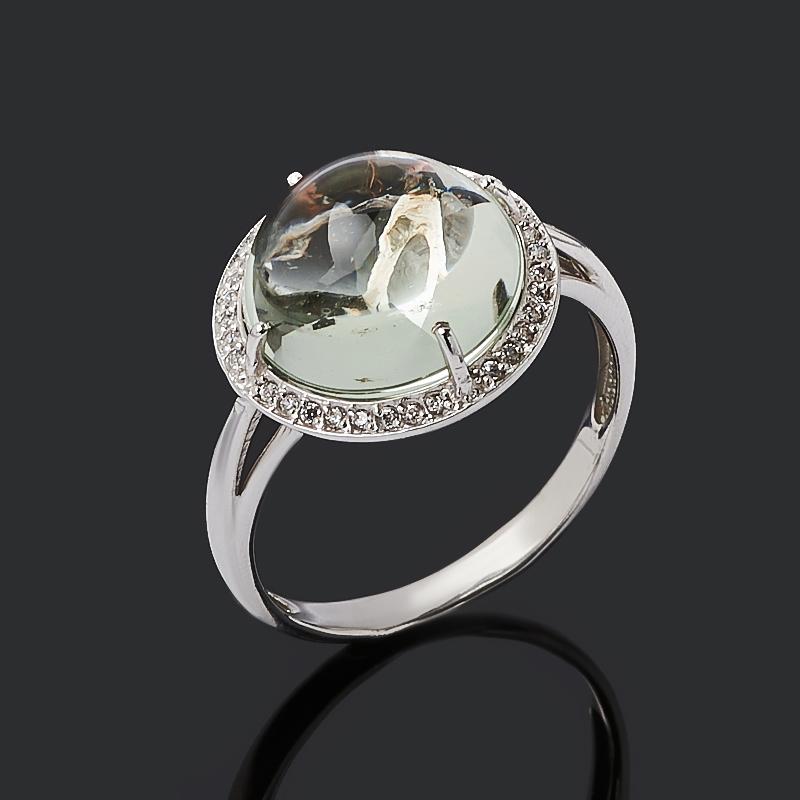 Кольцо празиолит (серебро 925 пр.) размер 17,5